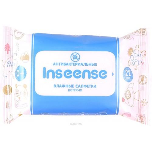 Inseense Салфетки влажные детские антибактериальные (22 шт)