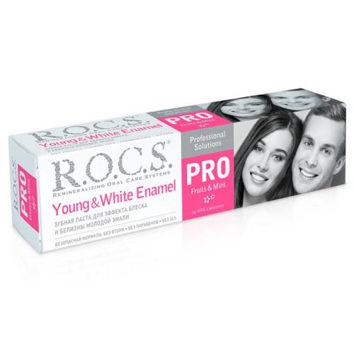R.O.C.S. PRO Зубная паста для белизны и блеска молодой эмали (135 гр)