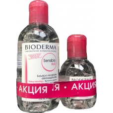 Bioderma АКЦИЯ!  Sensibio H2O Вода мицеллярная (250 мл + 100 мл)