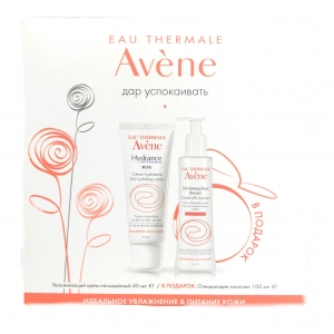 Avene НАБОР Hydrance Rich Крем увлажняющий для сухой кожи (40 мл) + молочко (100 мл)