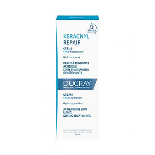 Ducray Keracnyl Repair крем восстанавливающий стерильный для проблемной кожи D.E.F.I. (50 мл)