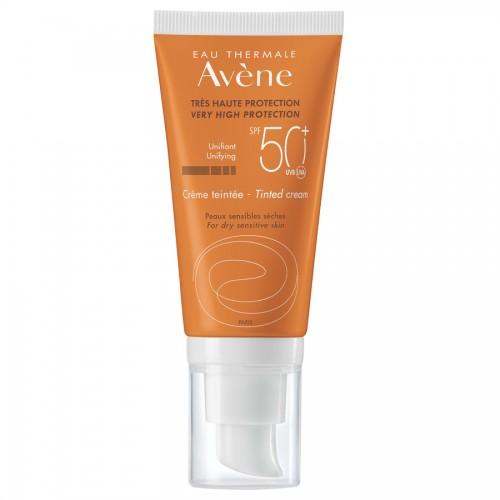 Avene Solaires Crème spf 50+ Крем солнцезащитный для сухой кожи с тоном (50 мл)