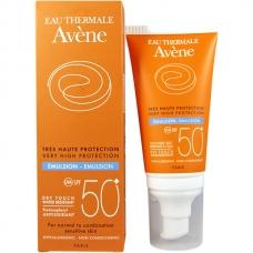 Avene Solaires Emulsion spf 50+ Эмульсия солнцезащитная для нормальной / комбинированной кожи (50 мл)