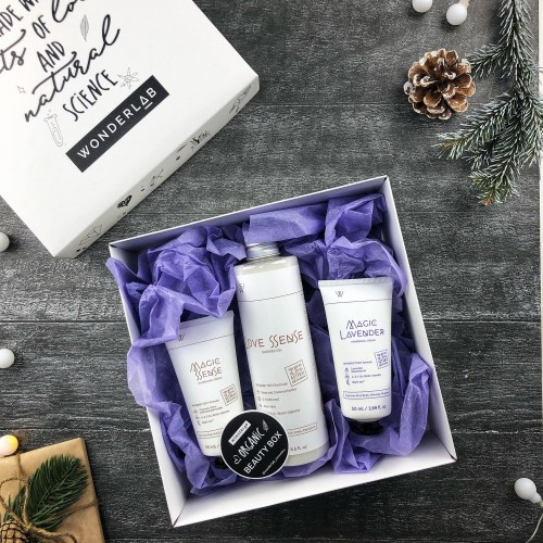 Wonderlab Новогодний подарочный набор: крем-гель для душа Love Sense и крем для рук Magic Sense + крем Magic Lavender в подарок.