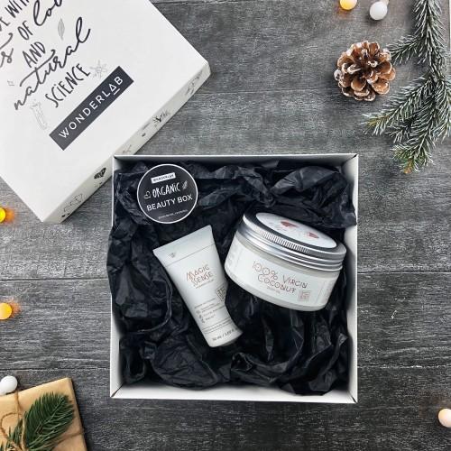 Wonderlab Новогодний подарочный набор: 100% кокосовое масло Wonder Lab + крем Magic Sense в подарок