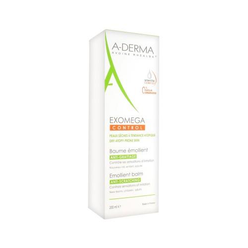 A-DERMA Exomega Сontrol Baume Émollient бальзам смягчающий (200 мл)