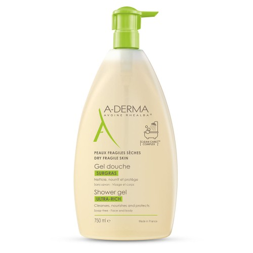 A-Derma Ultra-Rich Shower Gel питательный гель для душа (750мл)