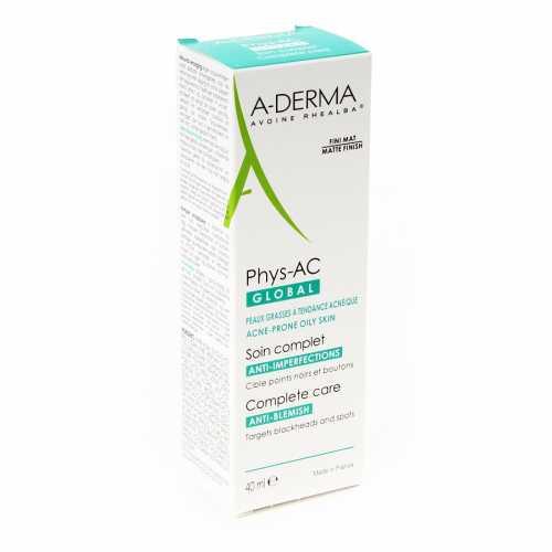 A-DERMA PHYS-AC GLOBAL-Крем для комплексного ухода за проблемной кожей (40мл)