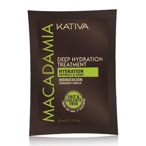 Kativa Macadamia Маска интенсивно увлажняющая для волос с маслом  ( 35г )