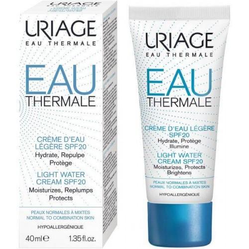 Uriage Eau Thermale Light Water Cream SPF20-Крем увлажняющий для лица SPF20 (40ml)