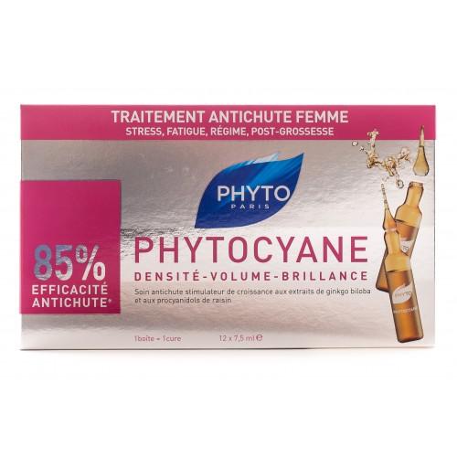 PHYTO Cyane - Ампулы от выпадении волос у женщин (12 ампул)