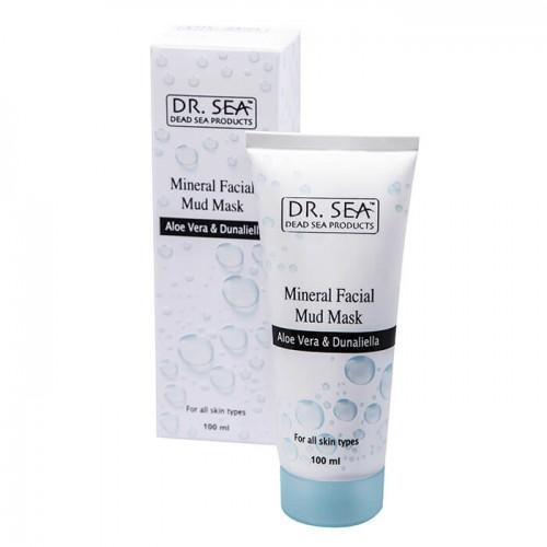 Dr. Sea Минеральная грязевая маска для лица с алоэ вера и дуналиеллы (100 мл)