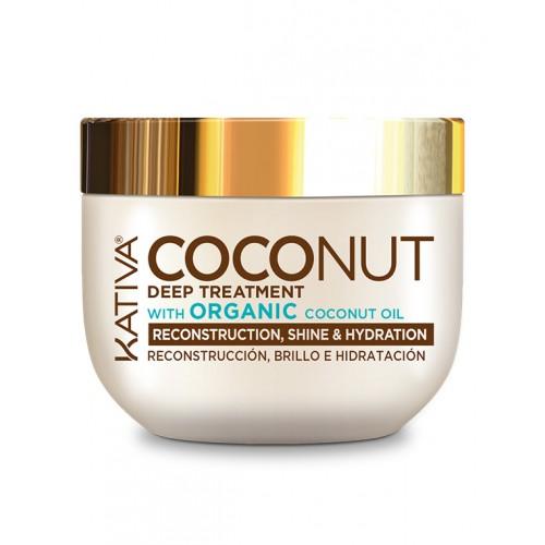 Kativa Coconut Восстанавливающая маска с органическим кокосовым маслом для поврежденных волос  (250 мл)