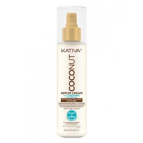 Kativa Coconut Восстанавливающая сыворотка с органическим кокосовым маслом для поврежденных волос (200 мл)
