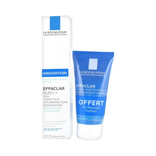 La Roche-Posay Effaclar Гель-мусс (200ml) + Effaclar duo (+)h НАБОР