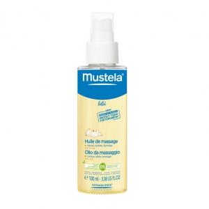 Mustela Масло массажное для новорожденных, младенцев и детей (100 мл)