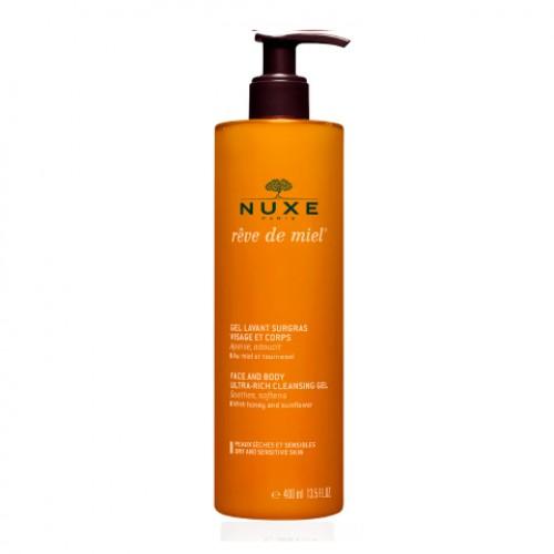 NUXE RÊVE DE MIEL® Гель очищающий для лица и тела (400 мл)