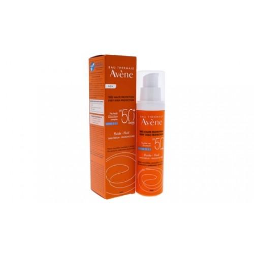 Avene Solaires Fluid spf 50+ Флюид солнцезащитый для нормальной / комбинированной кожи (50 мл)
